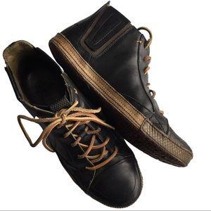 CUSHE Men's Shumakers Mark Hi Lace-Up Boot Black 9